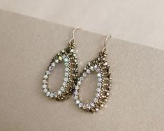 Seed Beads and Bicones Earrings Pattern   Craftsy