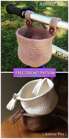 Crochet Bike Hanging Basket Free Pattern