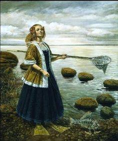 LUCKY FISHING, Michael Cheval (born Mikhail Khokhlachev, 1966, Kotelnikovo, USSR)