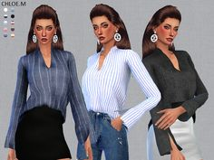 blouse for female for The Sims 4