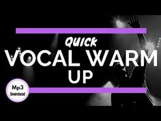 Professional Quick Vocal Warm Up *Exercises + Mp3 Download* - YouTube Vocal Warm Up Exercises, Singing Exercises, Vocal Coach, Workout Warm Up, Music Theory, Your Voice, Learn To Read, Singer, Learning