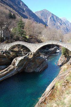 Ticino Bridge, Lavertezzo, Switzerland