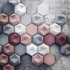 & - Asymmetrical surfaces and soft colors New Kaza Concrete three-dimensio . & – Asymmetrical surfaces and soft colors New Kaza Concrete three-dimensional tile Soft Colors, Colours, Wall Colors, Small Bathroom Tiles, Bathroom Fixtures, Small Tiles, Bathroom Design Small, Beton Design, Textures Patterns