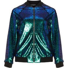Manon Baptiste Green / Black Plus Size Mira reversible sequin bomber... (1.910 NOK) ❤ liked on Polyvore featuring outerwear, jackets, plus size, green, embroidered bomber jackets, green bomber jackets, women's plus size bomber jacket, stand up collar jacket and stand collar jacket