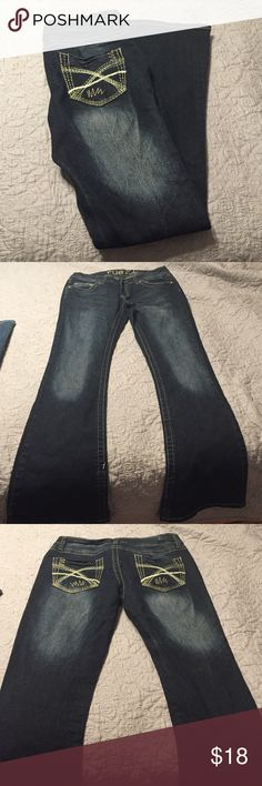 Rue 21 Jeans Stretchy fit, made for women with curves. Super comfy. Only worn a handful of times, great condition! Size 5/6 short. Rue 21 Pants Boot Cut & Flare