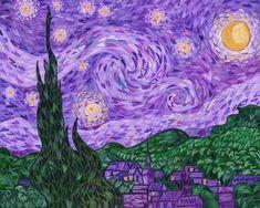 Vincent van Gogh - The Starry Night (Purple)