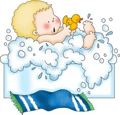baby bath Clipart Baby, Baby Clip Art, Drawing Board, Baby Scrapbook, A Blessing, Baby Pictures, Cute Kids, Baby Boy, Baby Shower