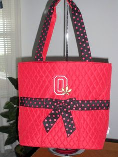 OHIO STATE DIAPER TOTE BAG FOR ALL YOU MOM'S AND EXPECTANT MOM'S TO BE! I have one but it used for my 4 kitty's: SNUGGEES, TAZZ, BURNEE & MR. BoJANGLES( BO FOR SHORT!)