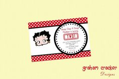 Betty Boop Custom Printable Birthday Party by GrahamCrackerDesigns