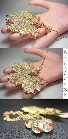 3fe4421b51e Genuine Maple leaf Necklace Maple leaf Pendant 14K Gold Filled Necklace  Nature Necklace Real Maple