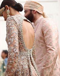 The Blushing Bride | Head over heels for Sabyasachi's Summer Bridal & Menswear Collection  #SexyBack #BlushPink #Zardosi #Details #CoutureDiaries Designer: @sabyasachiofficial  Jewellery: @kishandasjewellery