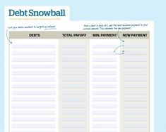 Free Debt Snowball Spreadsheet & Calculator (To Pay Off Debt Faster) - Debt Snowball Calculator - Ideas of Buying And Selling A House - Free Debt Snowball Spreadsheet & Calculator (To Pay Off Debt Faster) Debt Snowball Spreadsheet, Debt Snowball Calculator, Debt Snowball Worksheet, Budget Spreadsheet Template, Invoice Template, Dave Ramsey Debt Snowball, Debt Tracker, Money Makeover, Paying Off Credit Cards