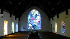 Union Church of Pocantico Hills, N.Y. in the historic Hudson Valley has stained glass windows by Marc Chagall and Henri Matisse.