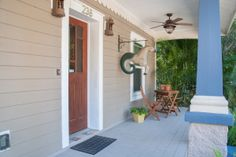 Front porch offers a wonderful shaded sitting area