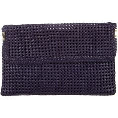 Pre-owned Stuart Weitzman Woven Leather Clutch (400 PEN) ❤ liked on Polyvore featuring bags, handbags, clutches, purple, stuart weitzman, handbags clutches, zip handbag, zipper handbags and purple handbags