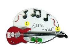 Personalized Electric Guitar Ornament