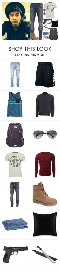 """""""Intro: James Patterson"""" by dj1direction ❤ liked on Polyvore featuring Balmain, NIKE, Old Navy, Versace, The North Face, Ray-Ban, Superdry, Doublju, Scotch & Soda and Timberland"""