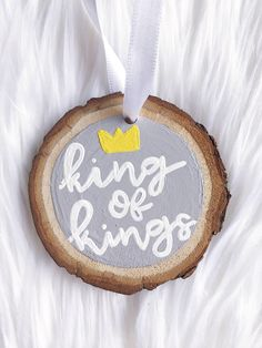 A personal favorite from my Etsy shop #christmas #ornament #gift https://www.etsy.com/listing/555150754/king-of-kings