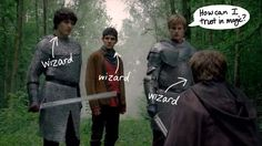 Oblivious Arthur ... Merlin Funnies