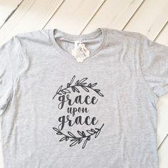 Grace upon Grace Christian Shirt Womens Jesus by EllyandGrace