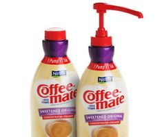 7 ways to reuse coffee creamer containers! Great way to recycle.