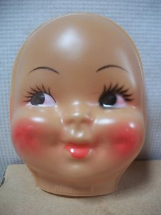 4 Inch Soft Plastic Baby Doll Face With Hands Unusual