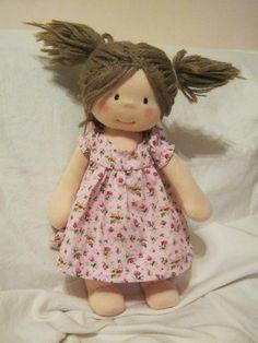 Waldorf doll waldorf inspired doll steiner doll organic por bemka