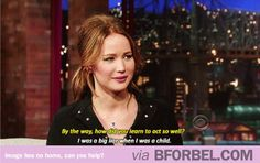 My Favorite Jennifer Lawrence Quote… I Seriously Laughed.