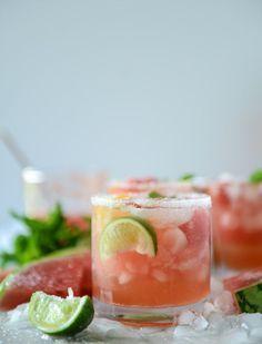 watermelon rosé margaritas