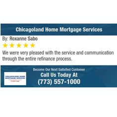 We were very pleased with the service and communication through the entire refinance...