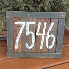 Rustic House Numbers, House Address Numbers, House Address Sign, Farmhouse House Numbers, Address Signs, Door Numbers, Palette Deco, Rustic Letters, Farmhouse Living Room Furniture