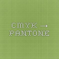 CMYK → PANTONE converter