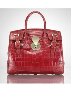 50 Dream Handbags: ralph lauren collection crocodile ricky bag, $18,500 #handbags, #handbags galore, #purse, #shoulder bag, #evening bag, #designer bags, #valentino bags, #satchel
