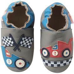e38cb4daef3a4 Chaussons bébé cuir souple victor la voiture de course- chaussons cuir  souple - chaussons souples bébé - chaussons en cuir souple