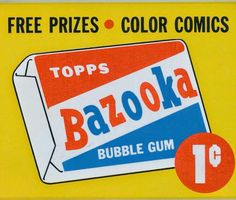 Liked the bubble gum but bought it for the comics.