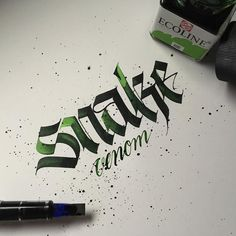 """117 Likes, 1 Comments - @1nkapability on Instagram: """"#calligraphy #calligraffiti #handmade #handstyle #handwriting #ink #addicted #watercolor #colors…"""""""