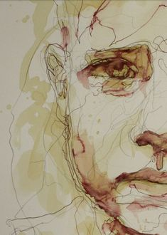 Reminds me of loneliness and depression, meloncholy, tired of life - best_drawing_pintous Watercolor Sketchbook, Art Sketchbook, Watercolor Paintings, Figure Painting, Painting & Drawing, Figurative Kunst, A Level Art, Art And Illustration, Watercolor Portraits