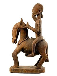 Dogon equestrian figure, Mali, 20th century (wood)