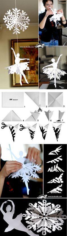 DIY Ballerinas Snowflakes #Snowflakes