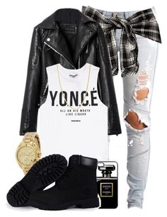 """Y.O.N.C.É."" by cheerstostyle ❤ liked on Polyvore featuring Lee, Chicnova Fashion, Dream Monstar, Michael Kors, Timberland and Giani Bernini"