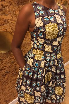 African Print Racer Back Sun Dress by ifenkili on Etsy