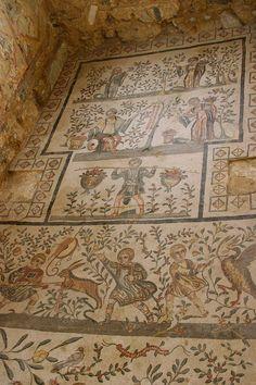 Villa del Casale - enfants chasseurs ,#atique mosaic