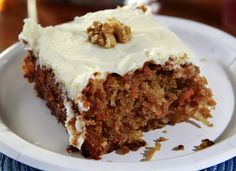 My friend Maureen shared this recipe many years ago when we worked together at the Minneapolis Star. We agreed at the time that the accompanying frosting recipe was so sweet that it made our teeth hurt! I called my mom and got her cream cheese frosting recipe, which complements the cake perfectly.</p><p>For a special occasion like a birthday, I bake the cake in two 9-inch round layers. I then double the frosting recipe to have enough to fill and cover the entire cake. Note that you'll need…