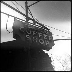 old coffee shop signs