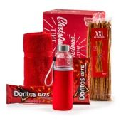 Kerstpakket Sportief Rood Doritos, Coca Cola, Tapas, Bbq, Beverages, Canning, Gifts, Chain, Barbecue
