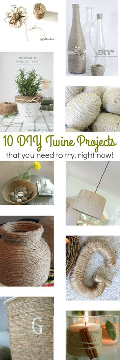 Does anyone else have a slight obsession with twine, lately?! I love it! You can basically take any object, one that you don't especially care for, wrap it in twine, and get a whole new look! It's really like one … Continue reading →