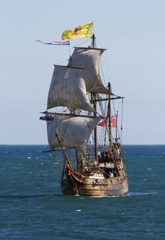 Duyfken 1606 (Barque) replica in Fremantle taking part in Tall Ship Festival by Nigel Donald on 500px