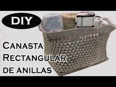#Canasta Rectangular #Anillas de Aluminio Parte 2 - YouTube