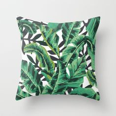 Buy Tropical Glam Banana Leaf Print by Nikki as a high quality Throw Pillow. Worldwide shipping available at Society6.com. Just one of millions of…