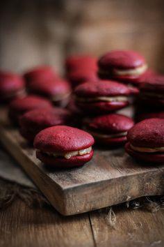 Red Velvet  Salted Caramel Whoopie Pies